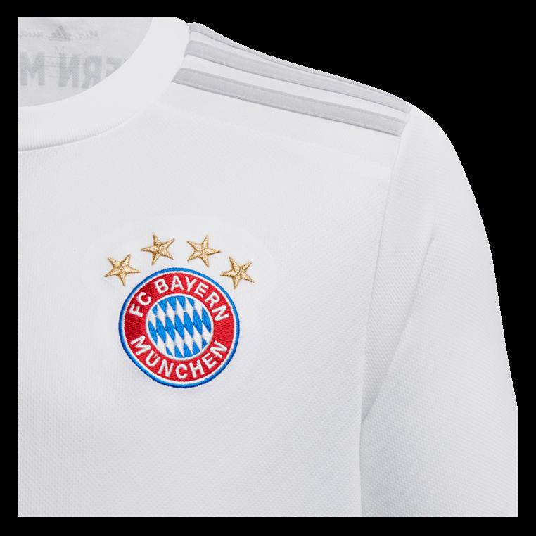adidas FC Bayern München Kinder Auswärts Trikot 2019/20 weiß