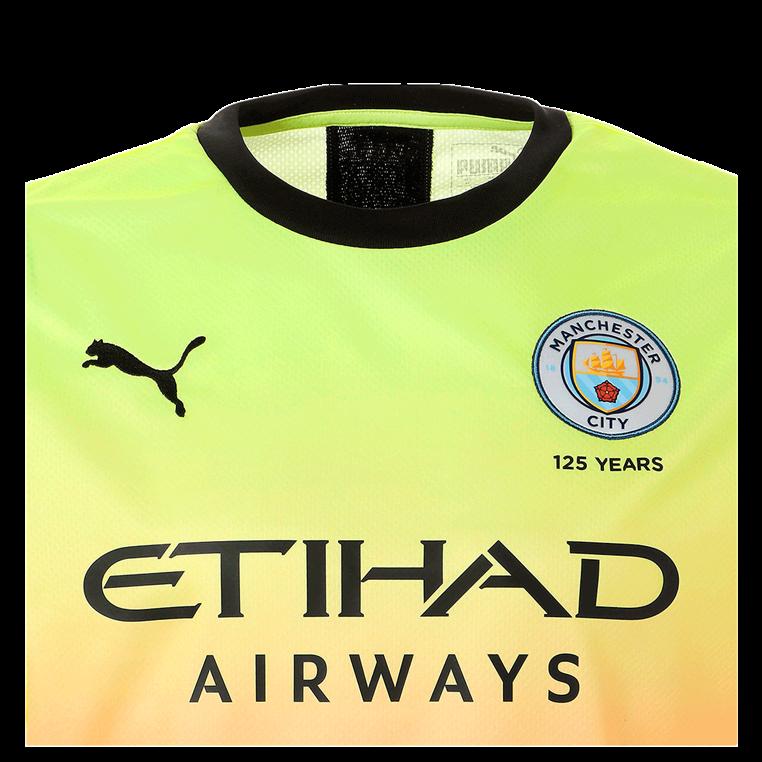 Puma Manchester City Kinder Champions League Trikot 2019/20 gelb/coral
