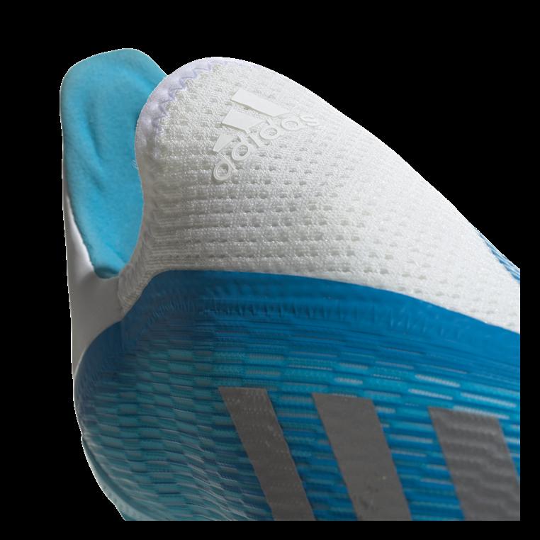 adidas Kinder Fußballschuh X 19.3 LL FG J hellblau/weiß