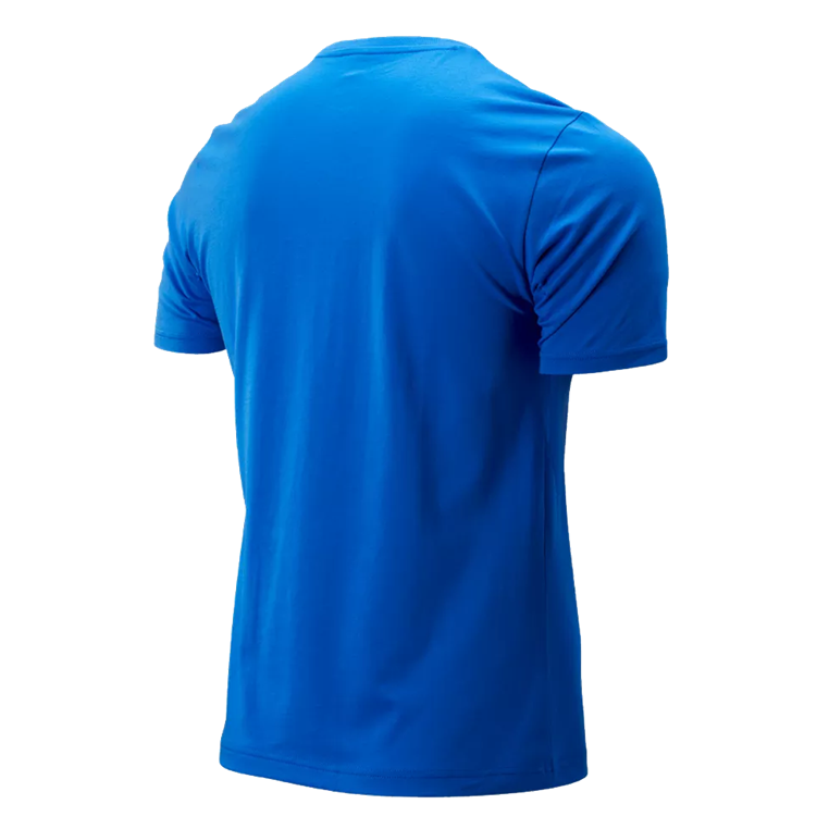 New Balance Shirt Essential Stacked Logo blau/weiß