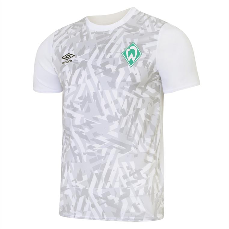 Umbro SV Werder Bremen Aufwärmtrikot Warm Up weiß/grau