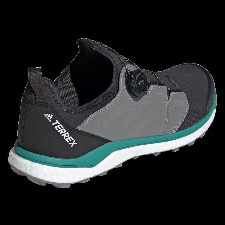 adidas Laufschuh Boost Terrex Agravic Boa anthrazit/grün