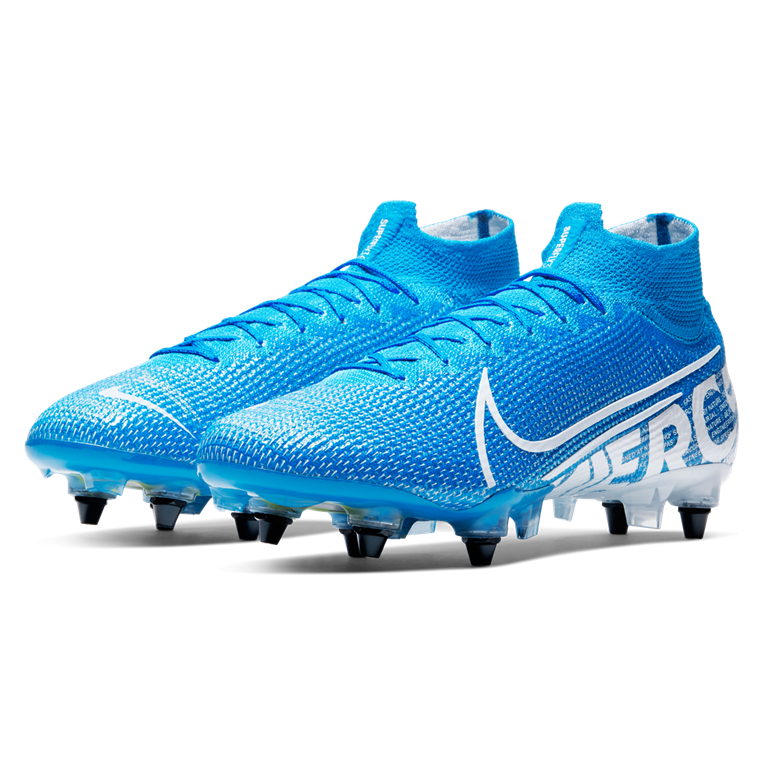 Nike Fußballschuh Mercurial Superfly VII Elite SG Pro AC hellblau/weiß