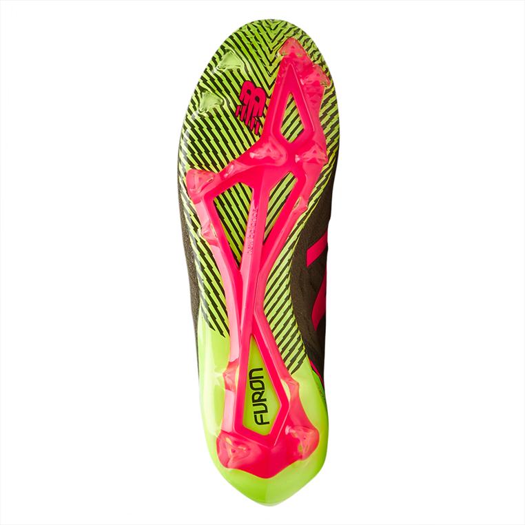 New Balance Fußballschuh Furon 3.0 Mid FG grün/pink