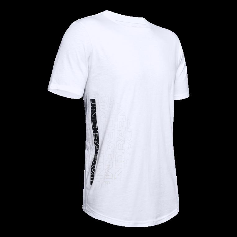 Under Armour Shirt Baseline Flip Side Tee weiß/schwarz