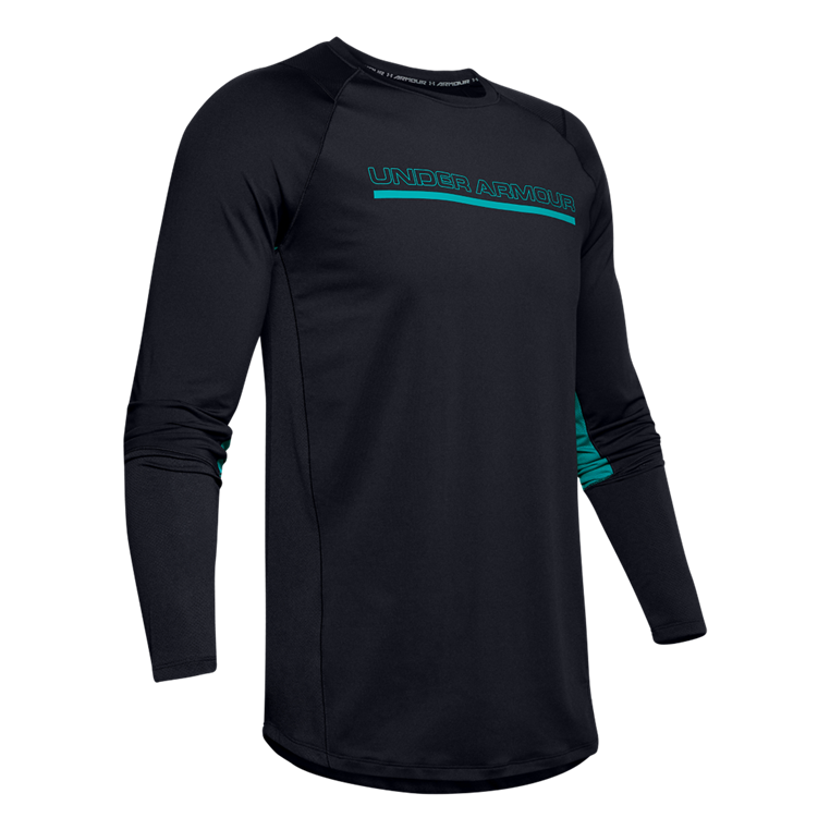 Under Armour Langarm Shirt MK1 Wordmark schwarz/türkis