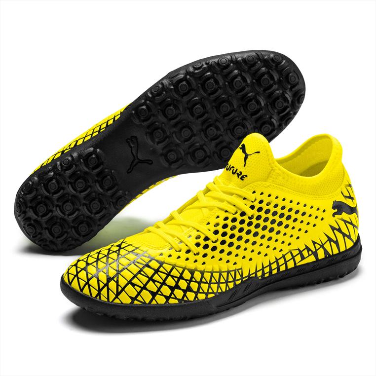 Puma Fußballschuh Future 4.4 TT Kunstrasen gelb fluo/schwarz