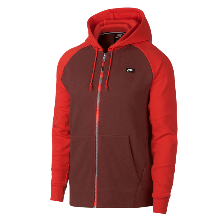 Nike Freizeitjacke Sportswear Optic Fleece rotbraun/rot