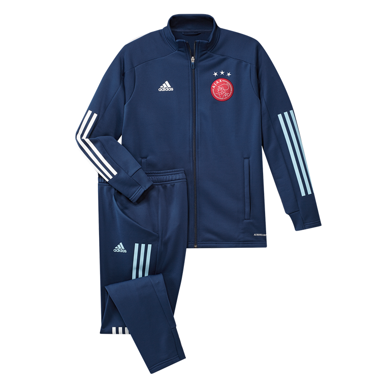 adidas Ajax Amsterdam Trainingsanzug dunkelblau/weiß