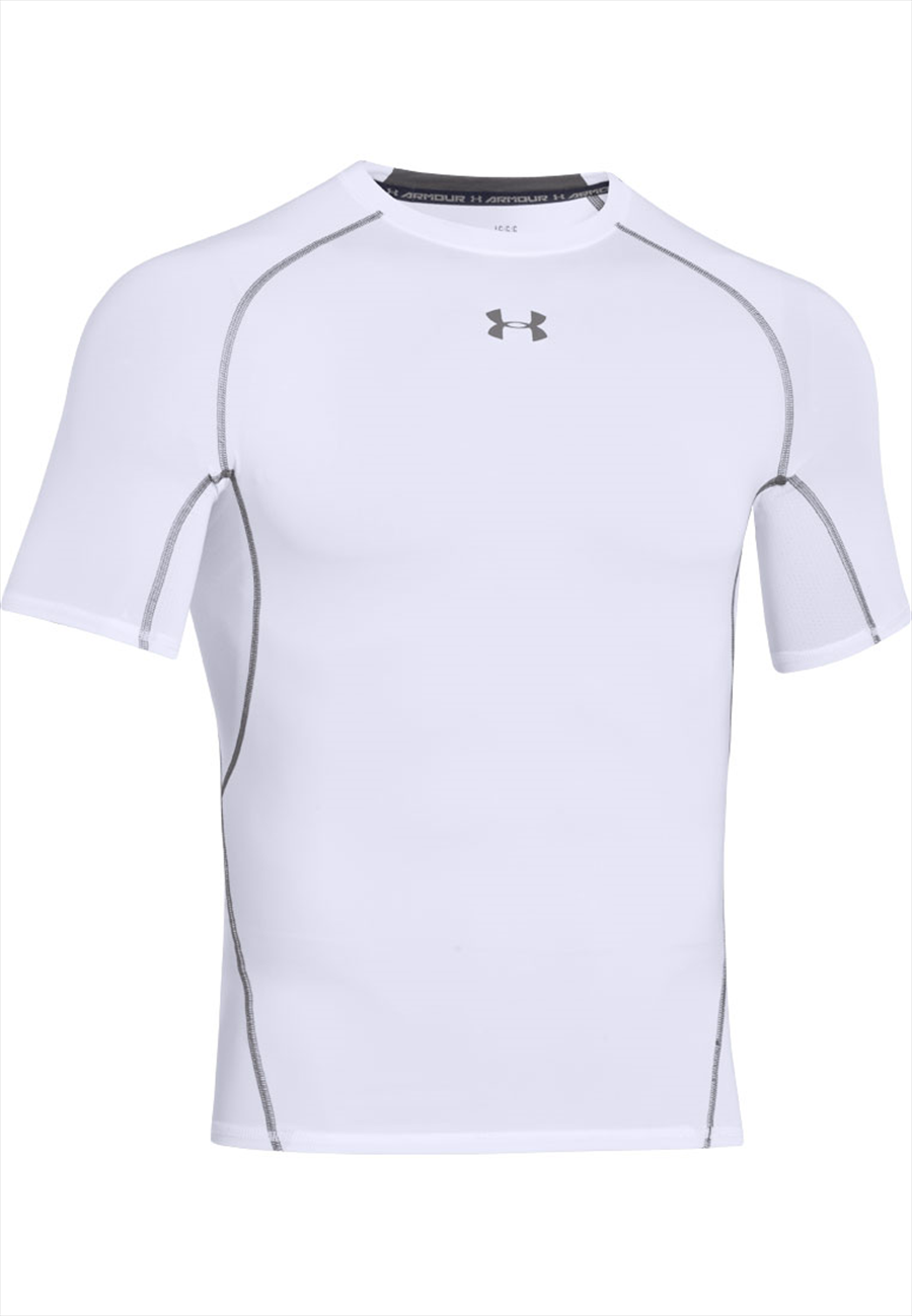 Under Armour Funktionsshirt HeatGear SS Compression Top weiß Bild 2
