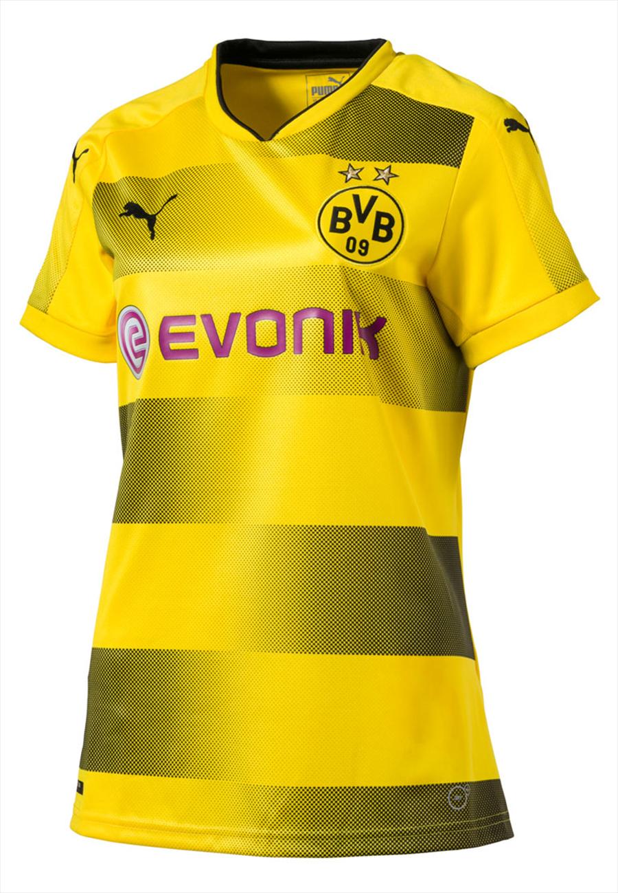 Puma BVB Heim Trikot Damen 2017/18 gelb/schwarz Bild 2