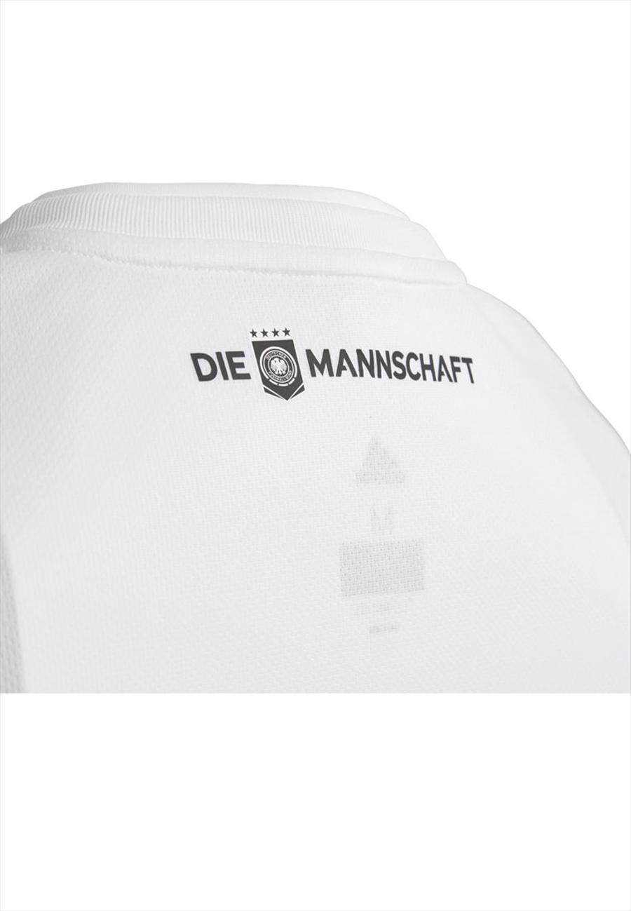 adidas Deutschland Kinder Heim Trikot 2018/19 weiß/schwarz Bild 9