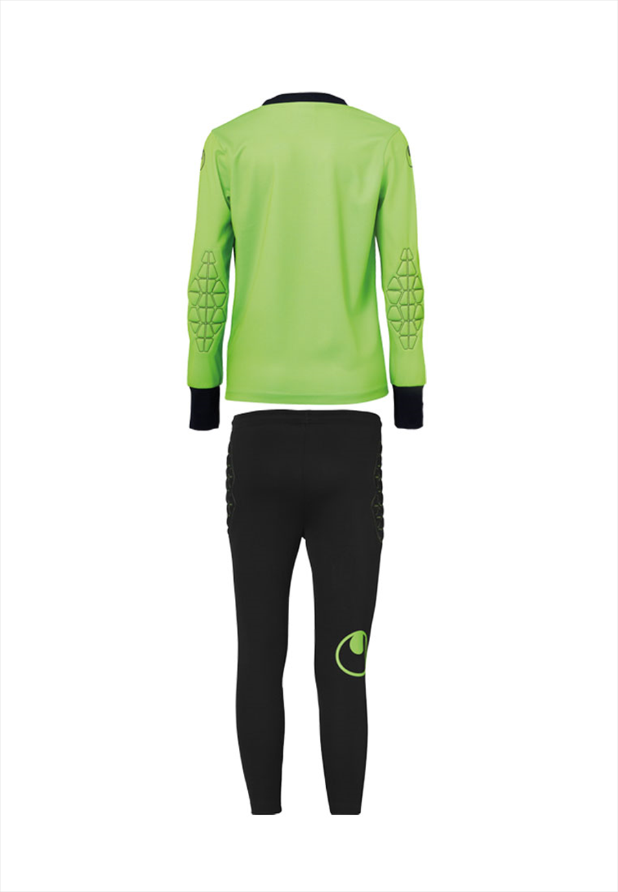 Uhlsport Kinder Torwartset Junior grün fluo/schwarz