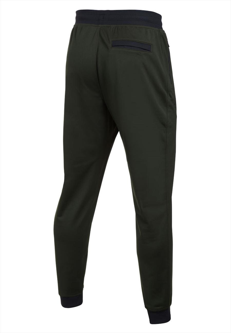 Under Armour Trainingshose Sportstyle Jogger dunkelgrün/schwarz Bild 3