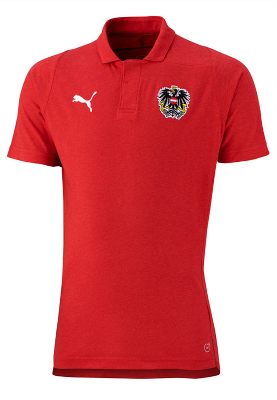 Puma Österreich Polo Casuals Performance rot/weiß