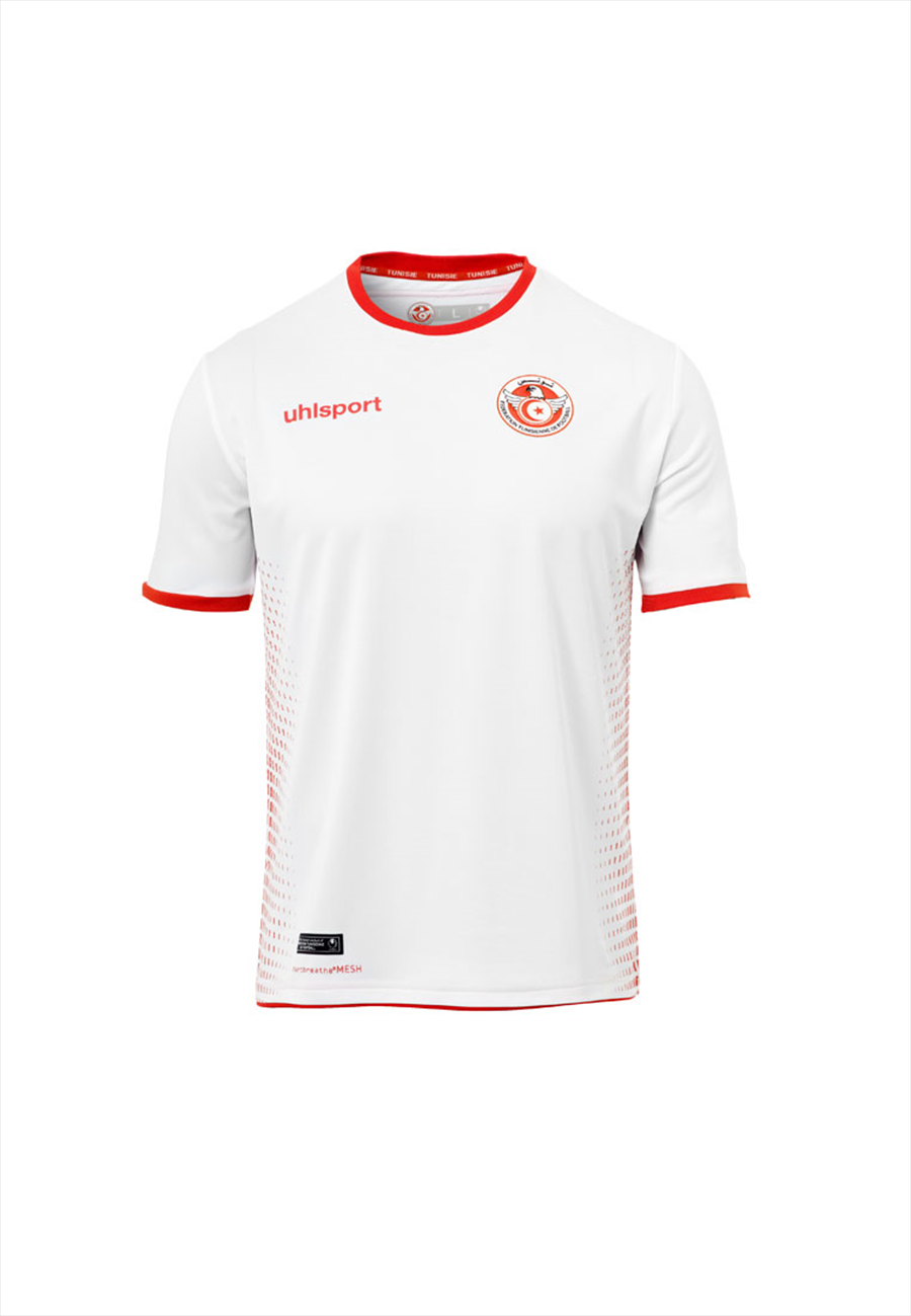 Uhlsport Tunesien Kinder Heim Trikot 2018/19 weiß/rot Bild 2