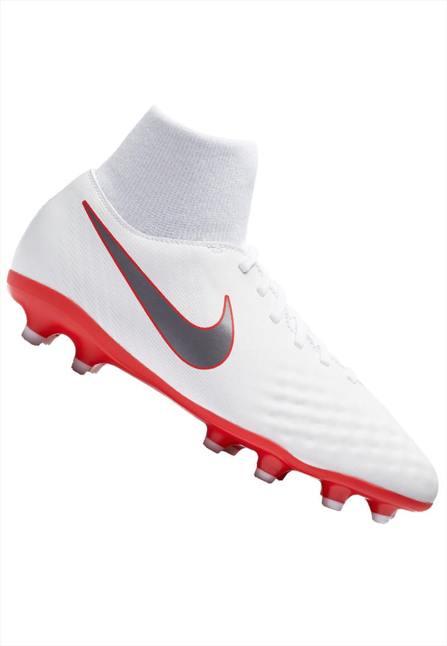 Nike Kinder Fußballschuh Magista Obra II JR Academy DynamicFit FG weiß/rot Bild 2