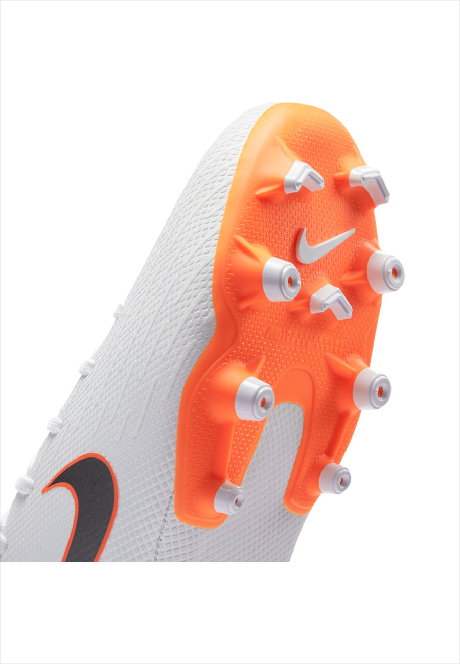 Nike Kinder Fußballschuh Mercurial Superfly VI JR Academy GS FG/MG weiß/orange fluo