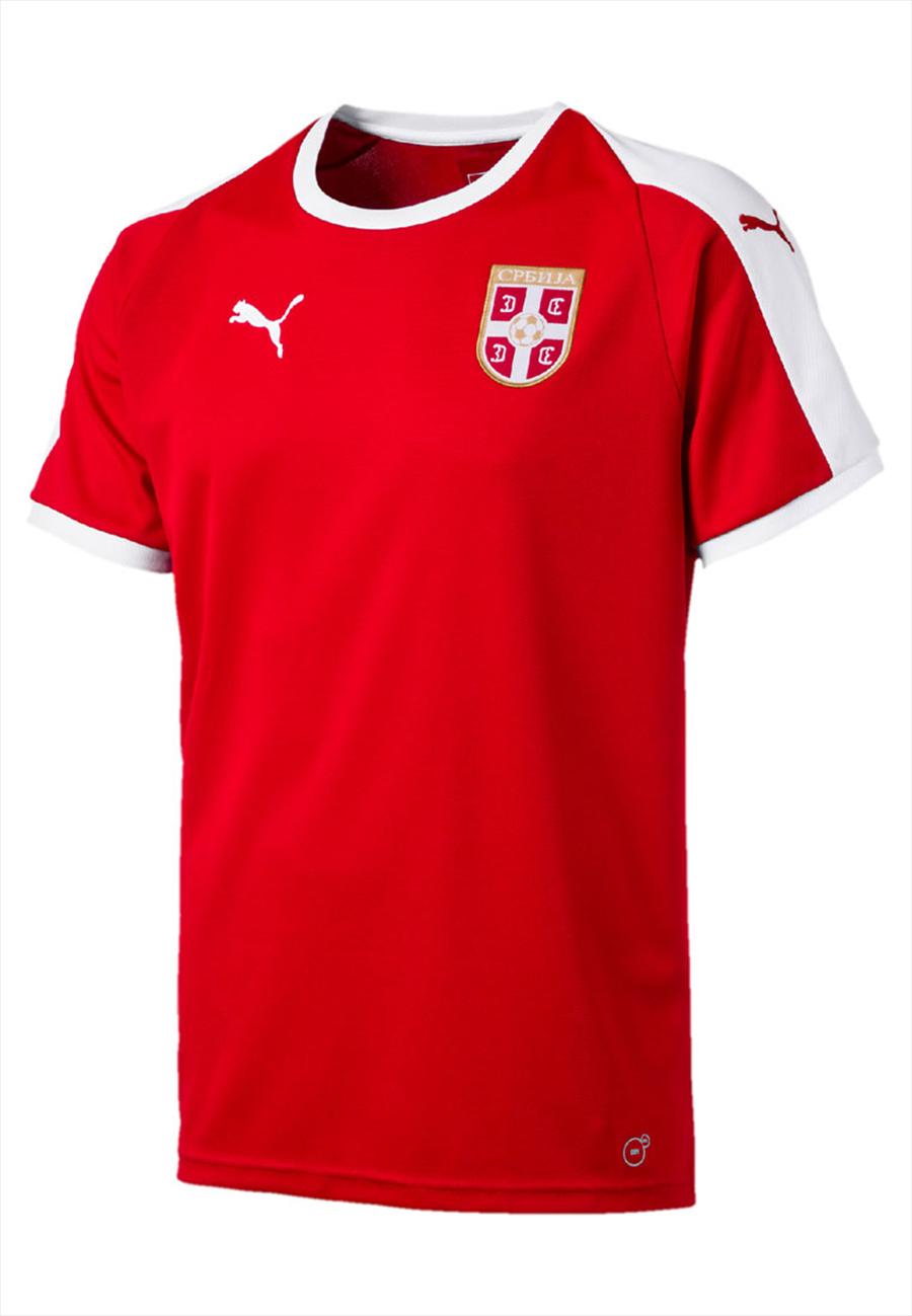 Puma Serbien Herren Heim Trikot 2018/19 rot/weiß Bild 2