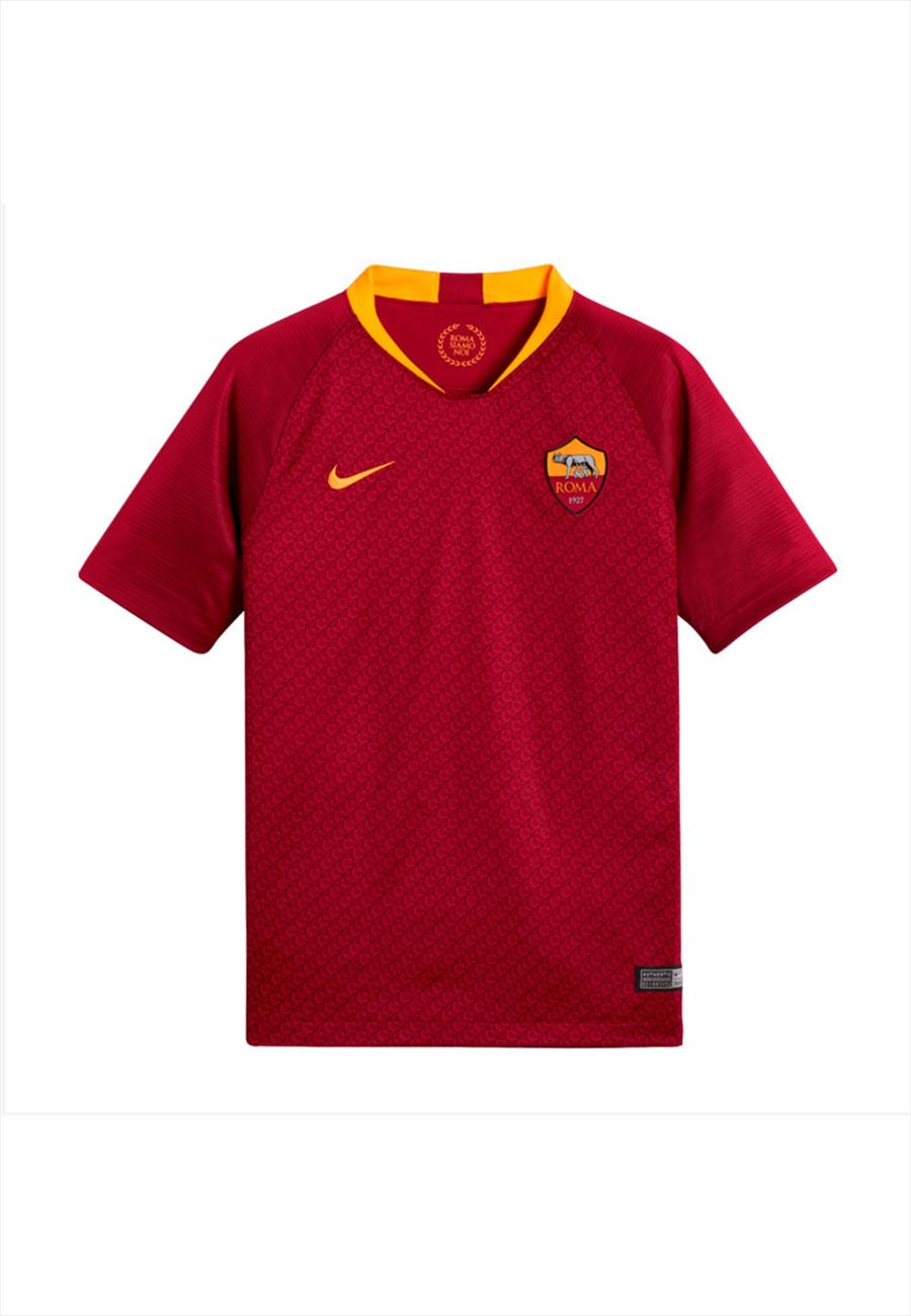 Nike AS Roma Kinder Heim Trikot 2018/19 rot/gelb Bild 2