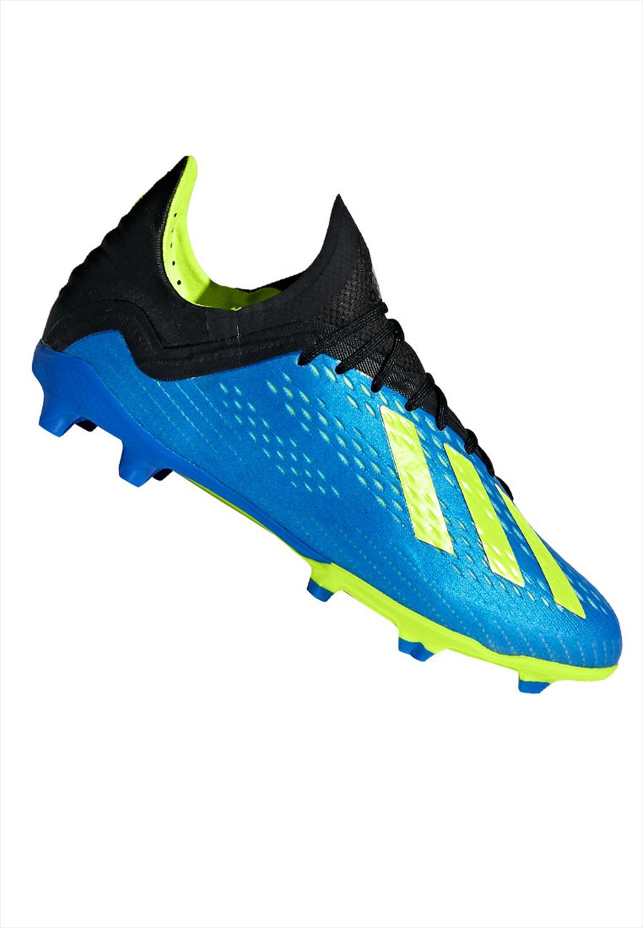 adidas Kinder Fußballschuh X 18.1 FG J blau/gelb fluo Bild 2