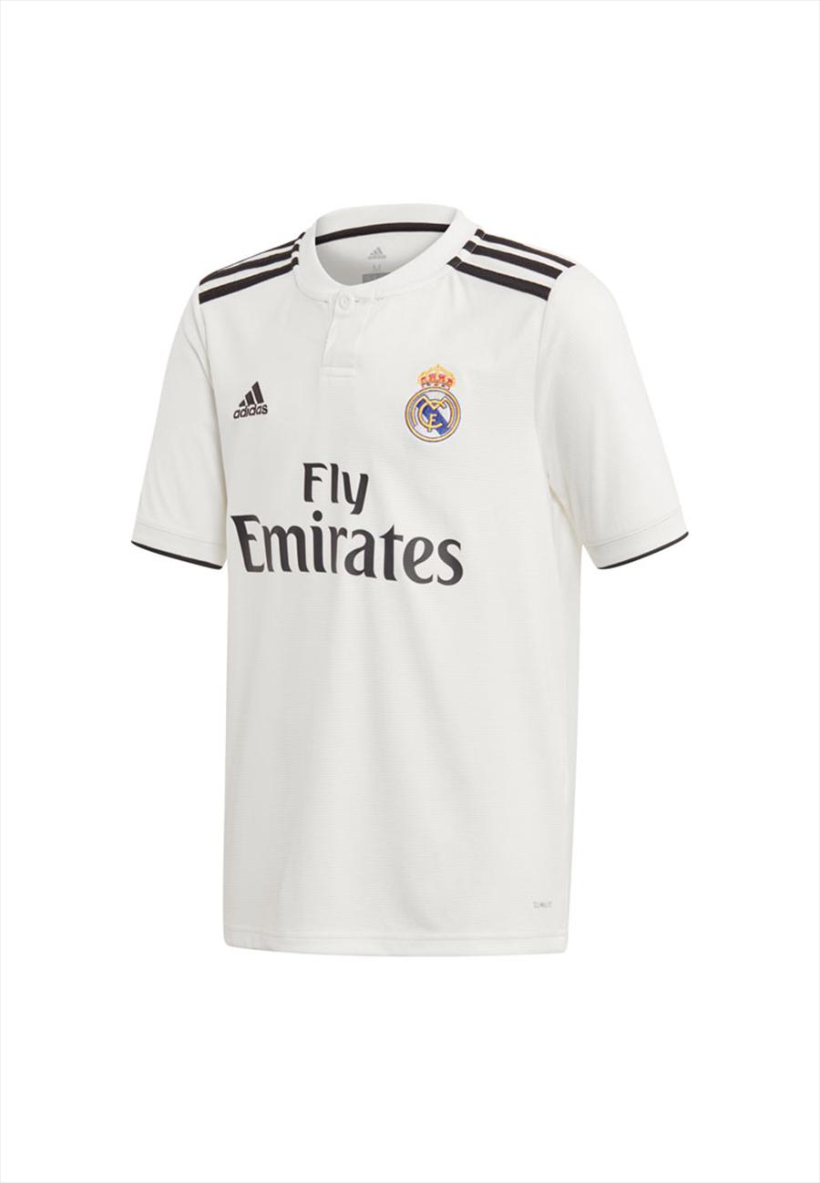 adidas Real Madrid Kinder Heim Trikot 2018/19 weiß/schwarz Bild 2