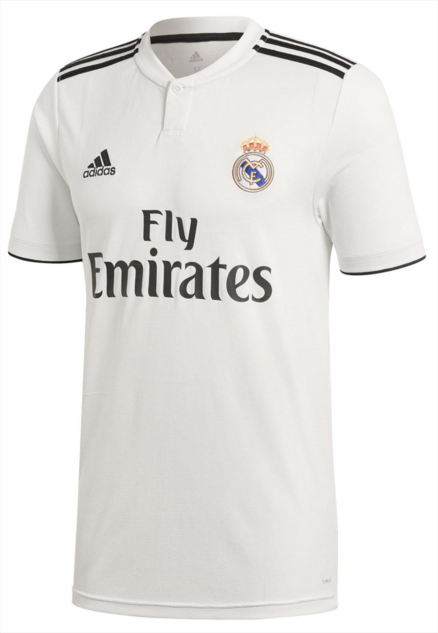 adidas Real Madrid Herren Heim Trikot 2018/19 weiß/schwarz Bild 2