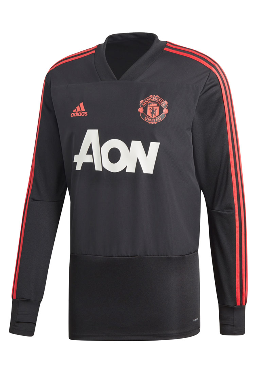 adidas Manchester United Trainingsoberteil Top schwarz/coral Bild 2