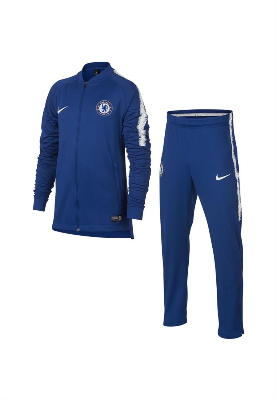 Nike Chelsea FC Kinder Trainingsanzug blau/weiß Bild 2