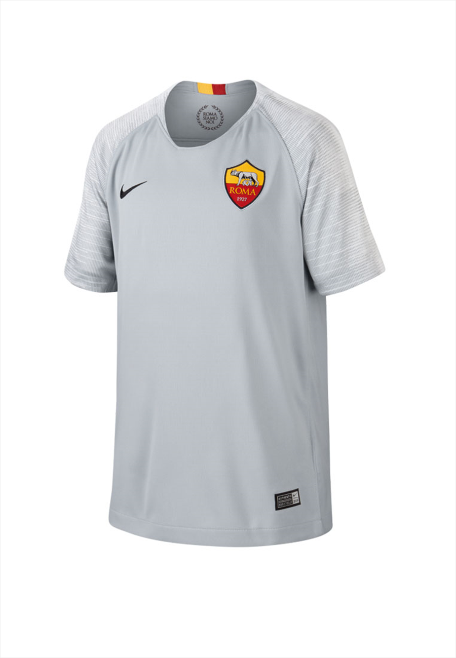 Nike AS Roma Kinder Auswärts Trikot 2018/19 grau/schwarz Bild 2