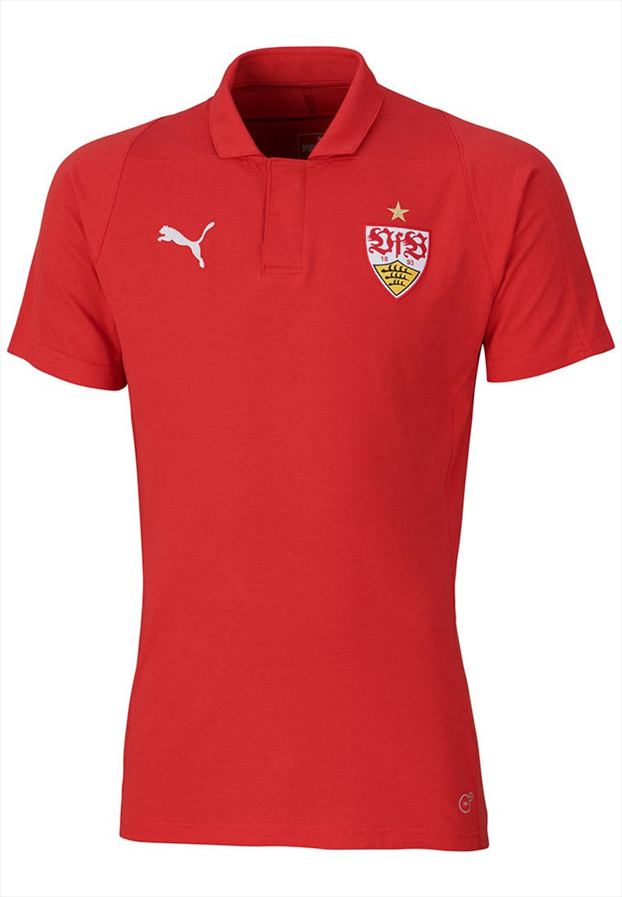 Puma VfB Stuttgart Poloshirt Casuals rot Bild 2