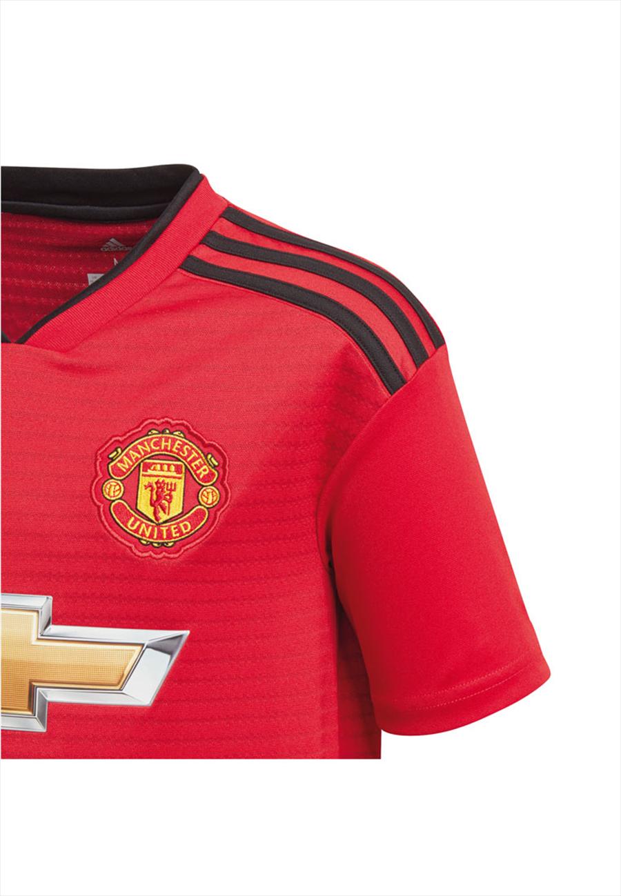 adidas Manchester United Herren Heim Trikot 2018/19 rot/schwarz Bild 4