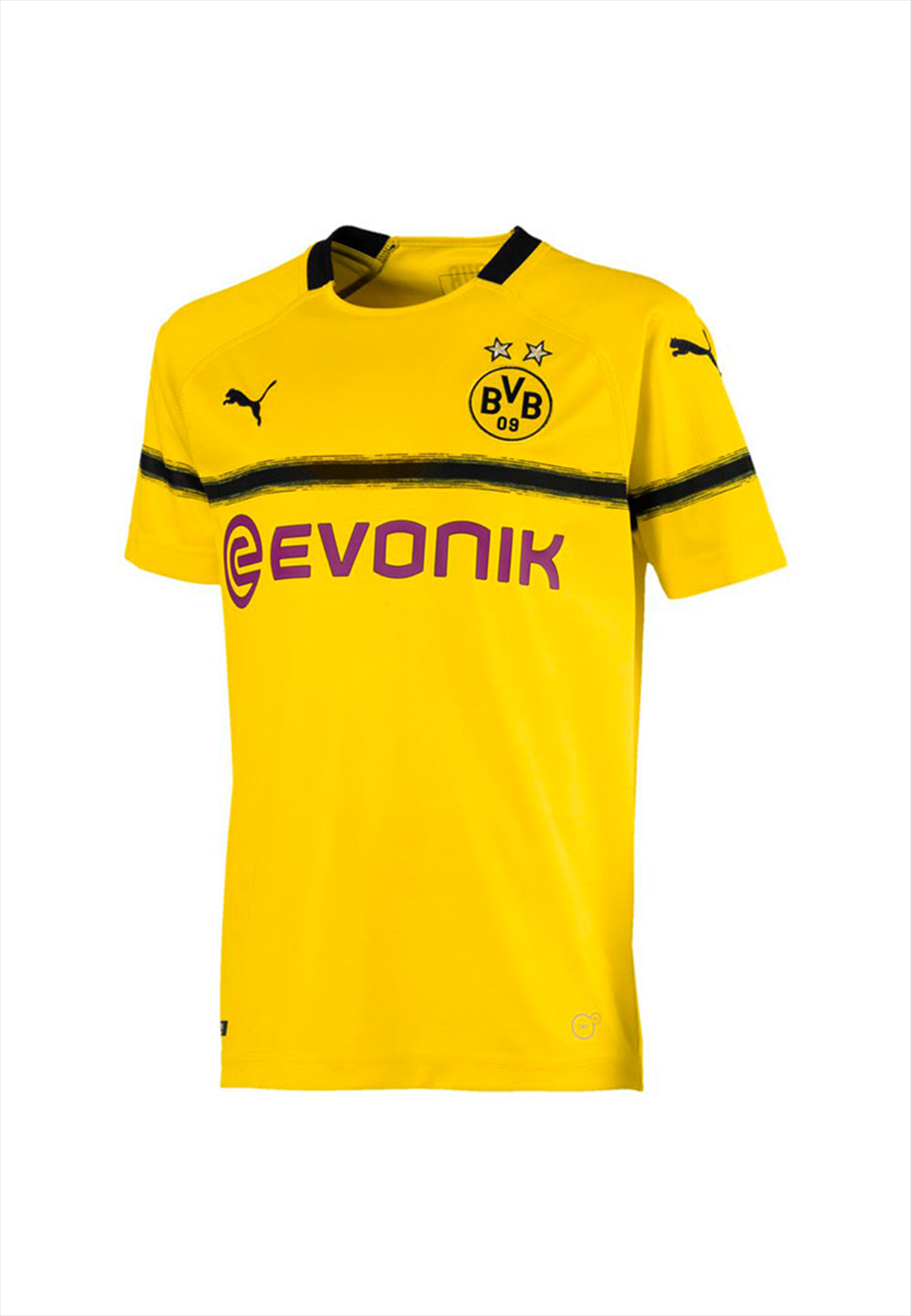 Puma BVB Kinder Cup Trikot 2018/19 gelb/schwarz Bild 2