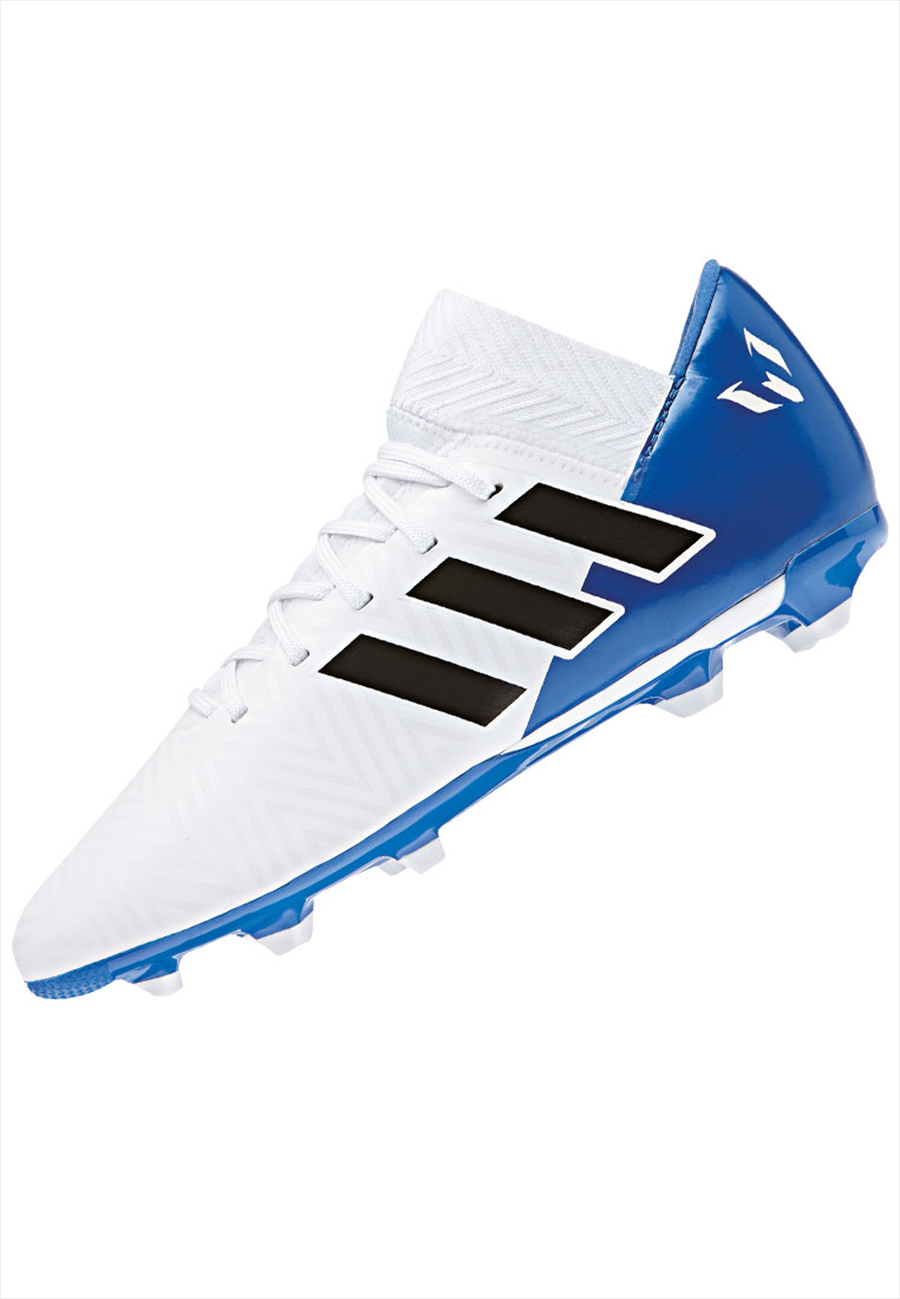 adidas Kinder Fußballschuh Nemeziz Messi 18.3 FG J weiß/blau Bild 3