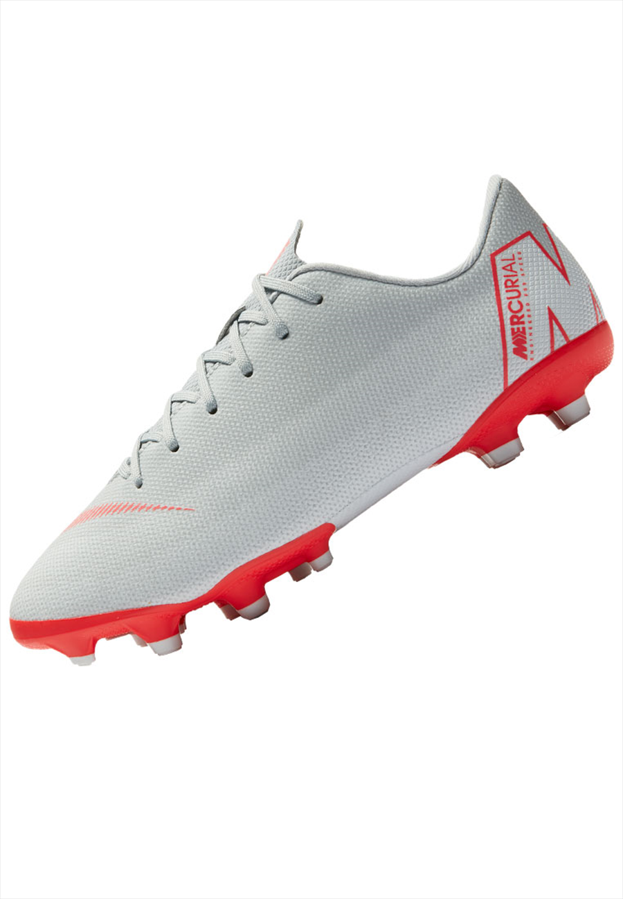 Nike Kinder Fußballschuh Mercurial Vapor XII JR Academy GS FG/MG grau/rot Bild 3