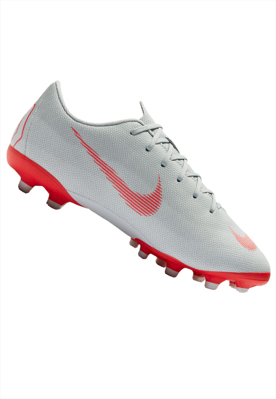 Nike Kinder Fußballschuh Mercurial Vapor XII JR Academy GS FG/MG grau/rot Bild 2