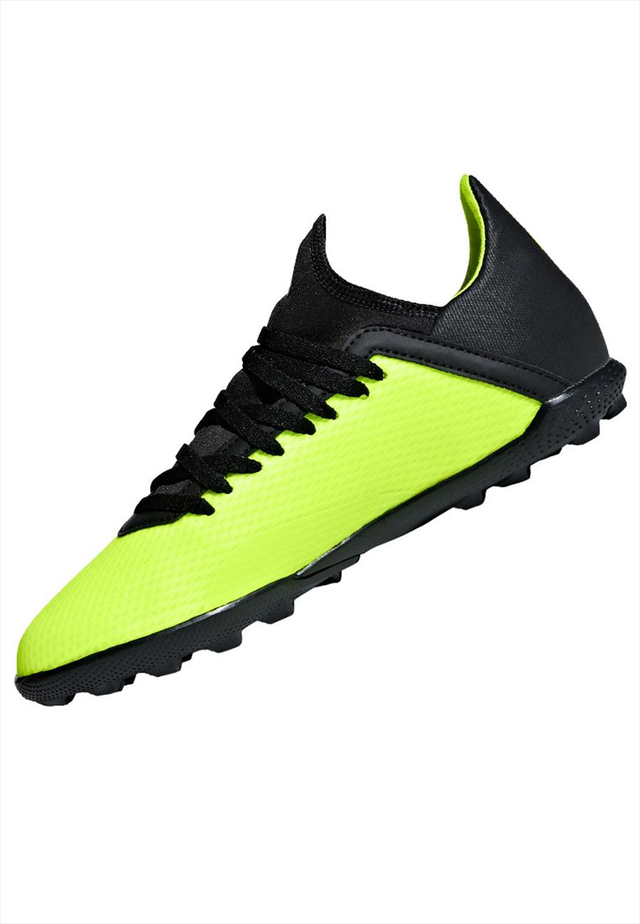 adidas Kinder Fußballschuh X Tango 18.3 TF J Kunstrasen gelb fluoschwarz