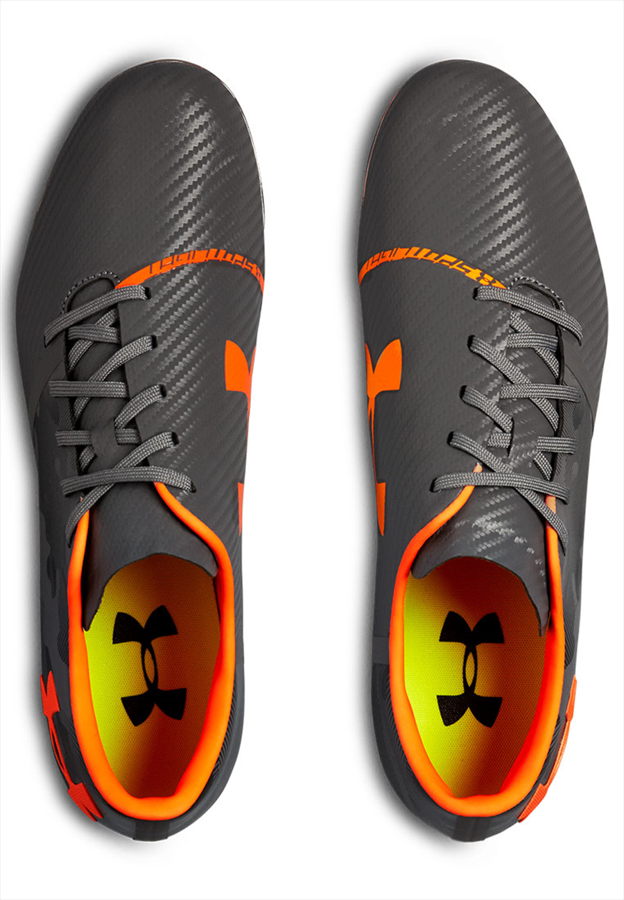 Under Armour Fußballschuh Spotlight FG dunkelgrau/orange