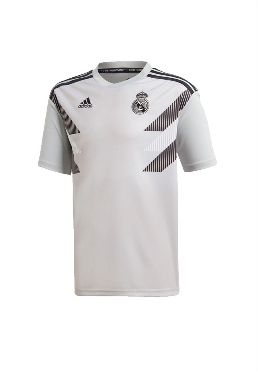 adidas Real Madrid Kinder Aufwärmtrikot grau/schwarz Bild 2