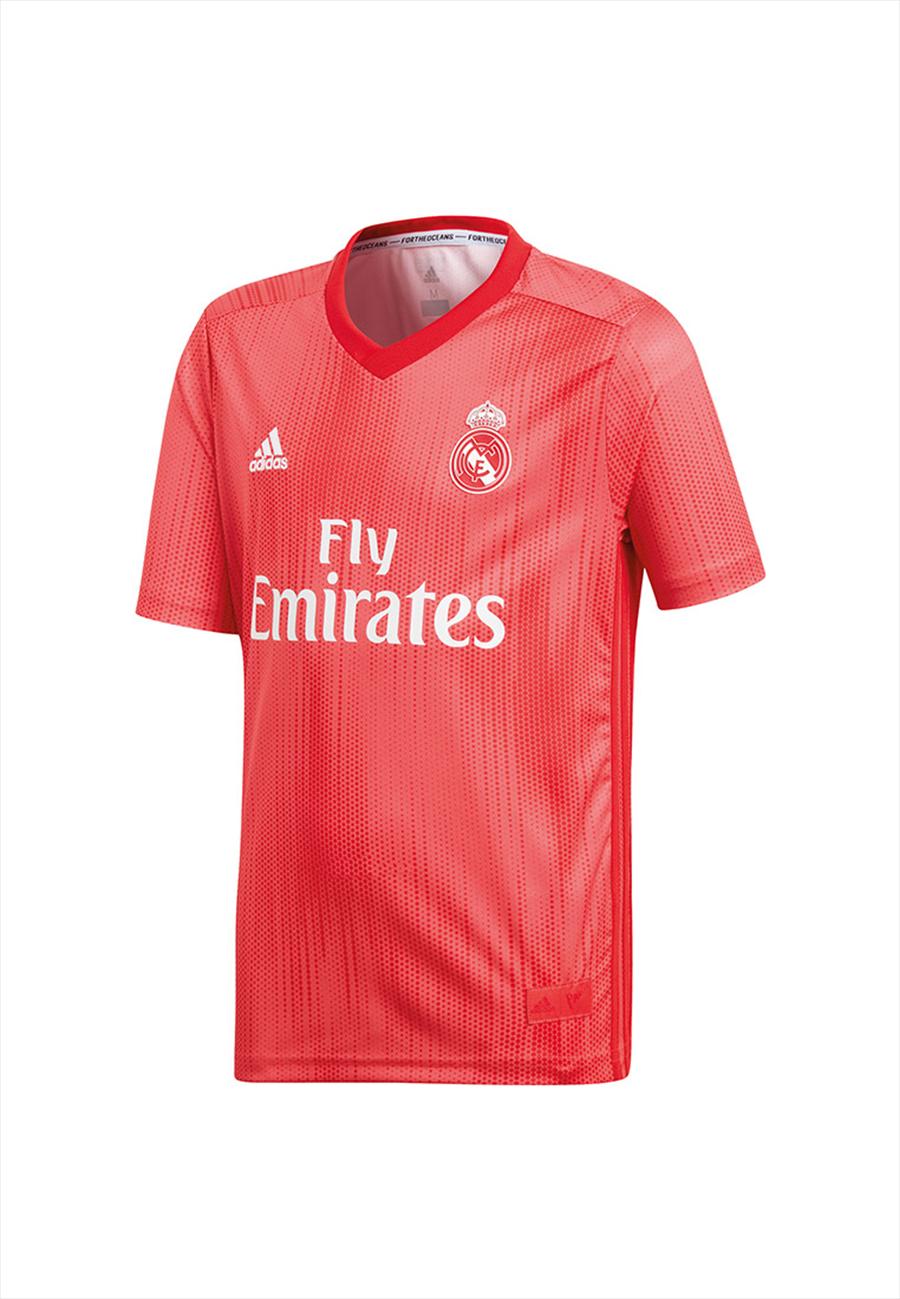 adidas Real Madrid Kinder Champions League Trikot 2018/19 coralrot/weiß Bild 2