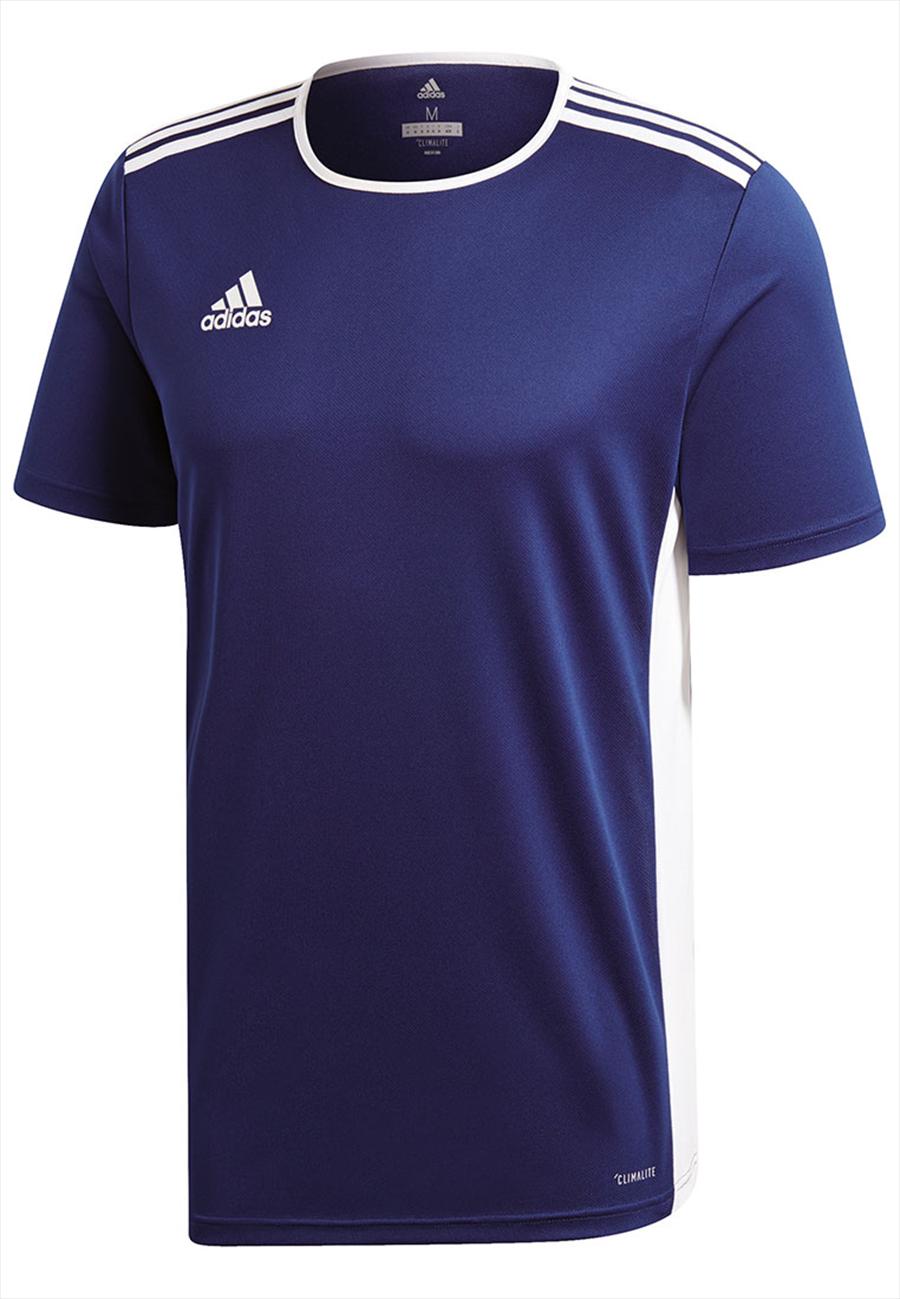Adidas shirt Entrada 18 jersey donkerblauwwit