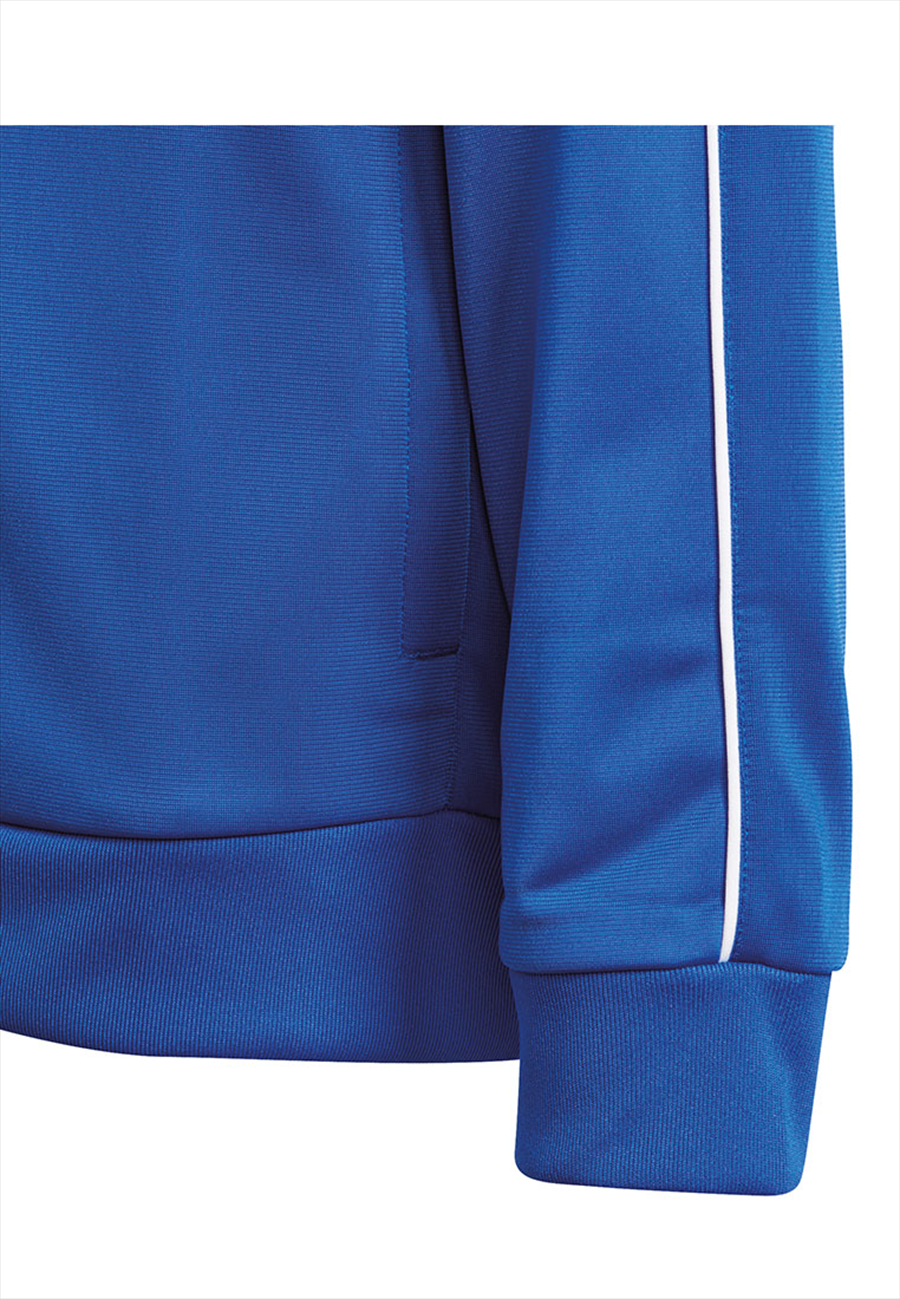 adidas Kinder Trainingsjacke Core 18 blau/weiß