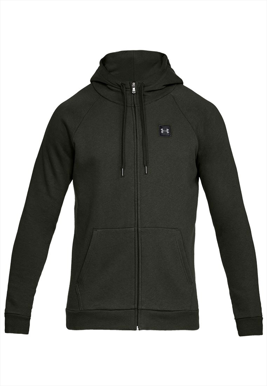 Under Armour Kapuzenjacke Rival Fleece Hoody dunkelgrün/schwarz