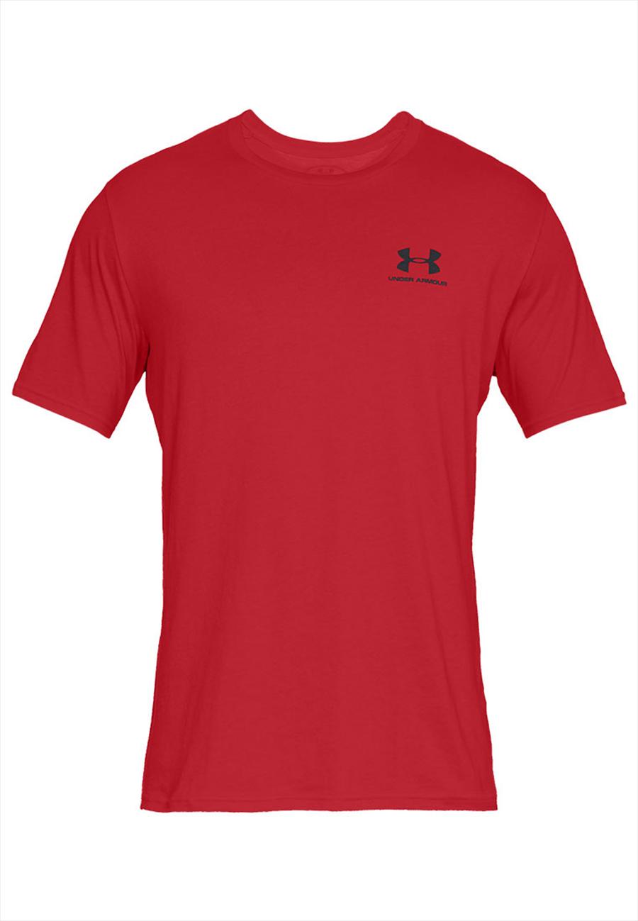Under Armour Shirt Sportstyle Left Chest SS rot/schwarz Bild 2