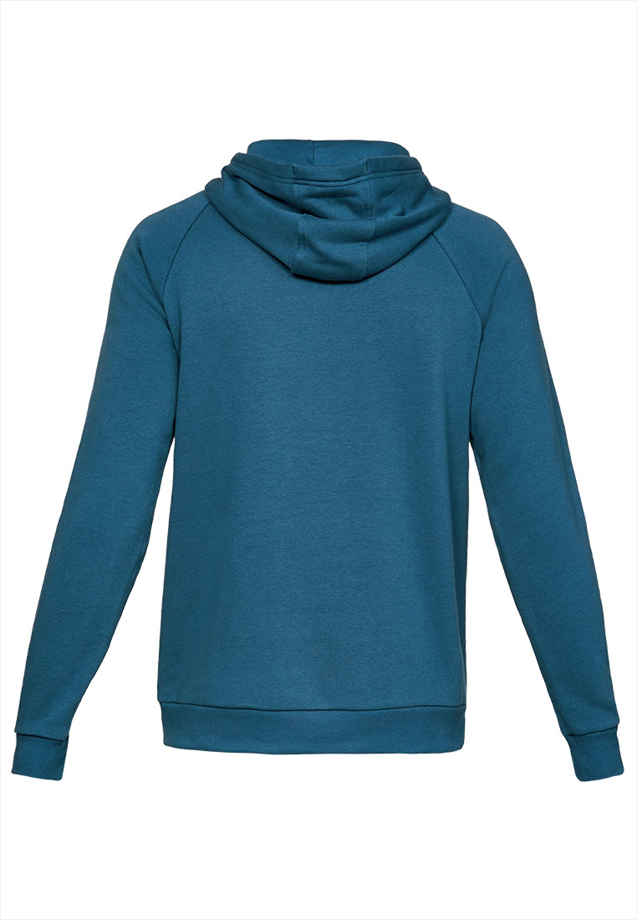 Under Armour Kapuzenpullover Rival Fleece Hoody petrolblau/schwarz Bild 3