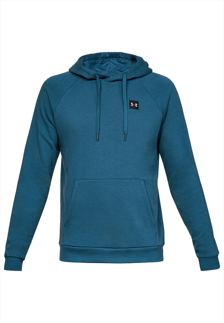 Under Armour Kapuzenpullover Rival Fleece Hoody petrolblau/schwarz Bild 2