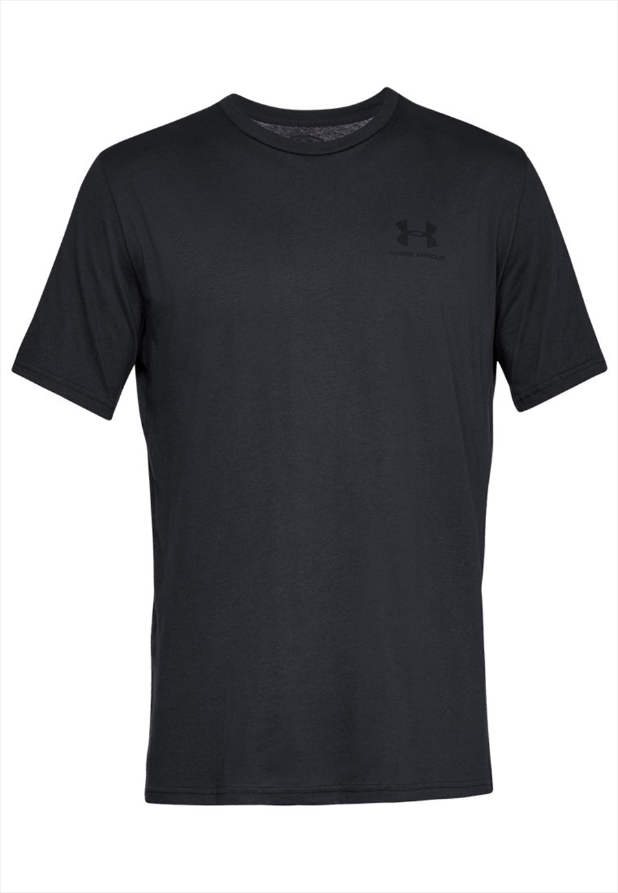 Under Armour Shirt Sportstyle Left Chest SS schwarz/weiß Bild 2