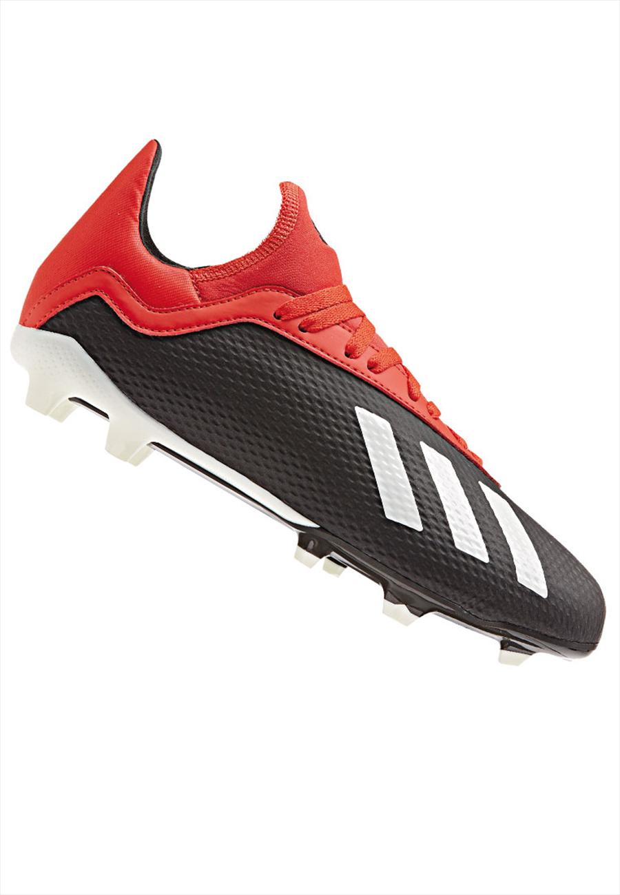 adidas Kinder Fußballschuh X 18.3 FG J schwarz/rot Bild 2