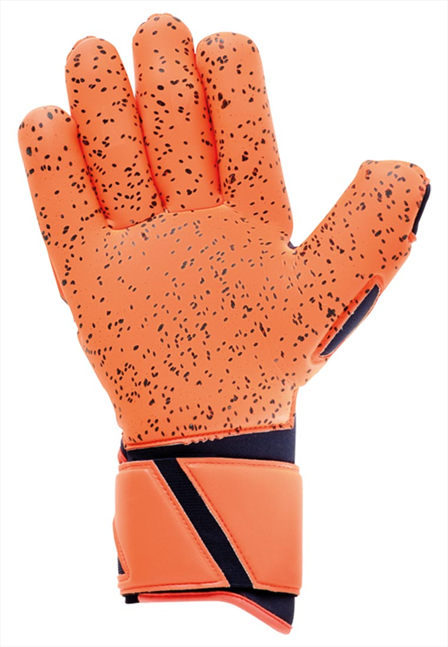 Uhlsport Torwarthandschuhe Next Level Supergrip Finger Surround dunkelblau/rot fluo Bild 3
