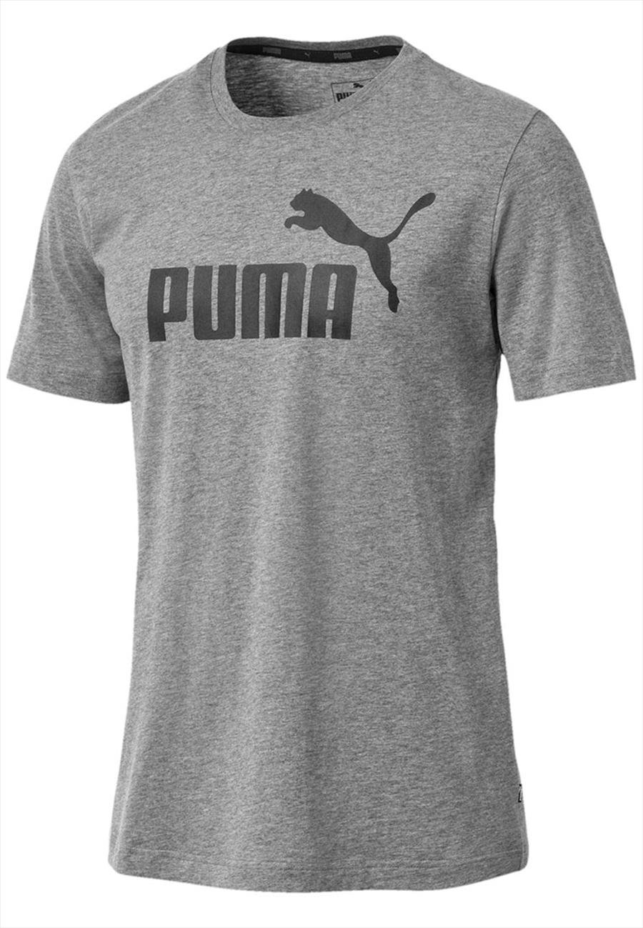 Puma Shirt Essential Logo Tee grau/schwarz Bild 2